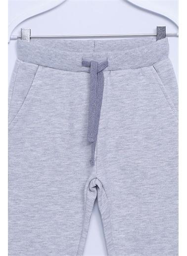 Silversun Kids Sweat Pantolon Örme Beli Ve Paçası Lastikli Eşofman Altı Kız Çocuk Jp-213218 Gri
